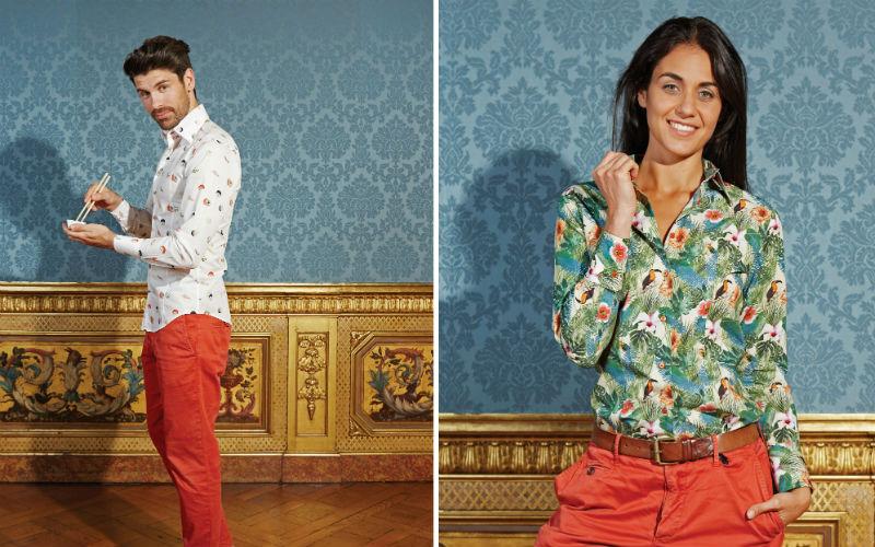 Trendy De Et Aux Doux Sa Paris Coton Collection Imprimés Chemises w8HTSqp